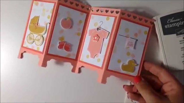 Create this super cute fun fold card with Brianna Thompson, AKA Mommy Stamper. http://www.mommy-stamper.blogspot.com/2014/06/baby-room-divider-card.html