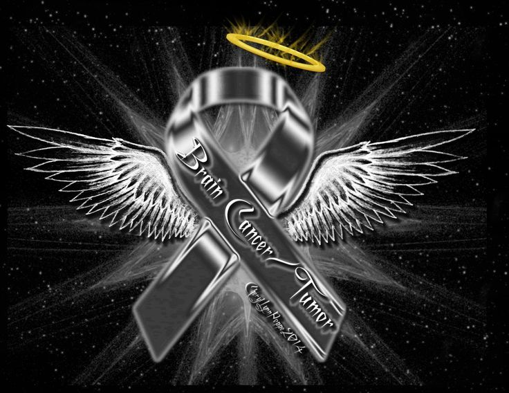 Brain Cancer/Tumor Ribbon Angel | Awareness Ribbon Angels ...