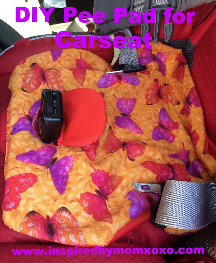 Every car seat needs a piddle pad. Especially during potty training!We had bought one for approximately $14 when we got our car seats. I then made one for