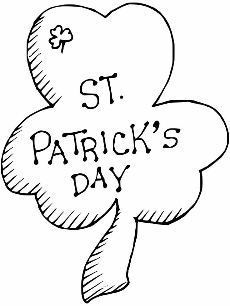 Free Printable Shamrock Coloring Pages For Kids in 2020