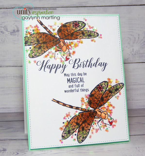 Unity Stamp Company: Birthday Dragonflies ~ DT Tuesday & Pick Of The Week