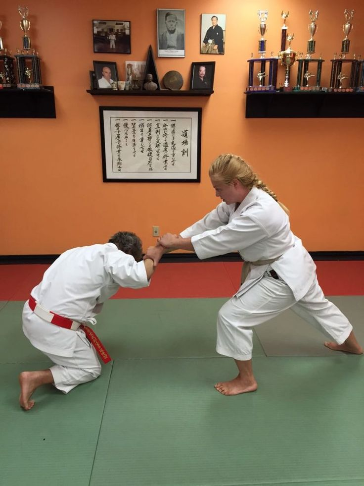This month I am demonstrating self-defence against an across-line wrist grab, step 6.