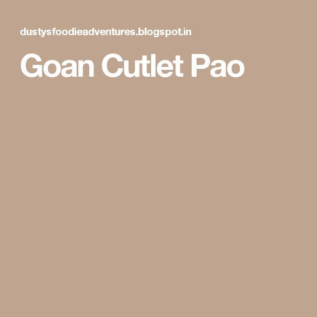Goan Cutlet Pao