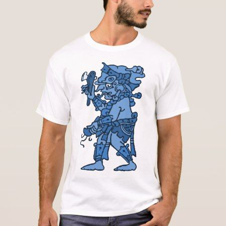 Mayan Rain God Blue T-Shirt - tap, personalize, buy right now!