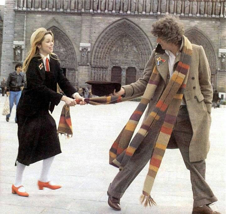 The fourth doctor and Romana.