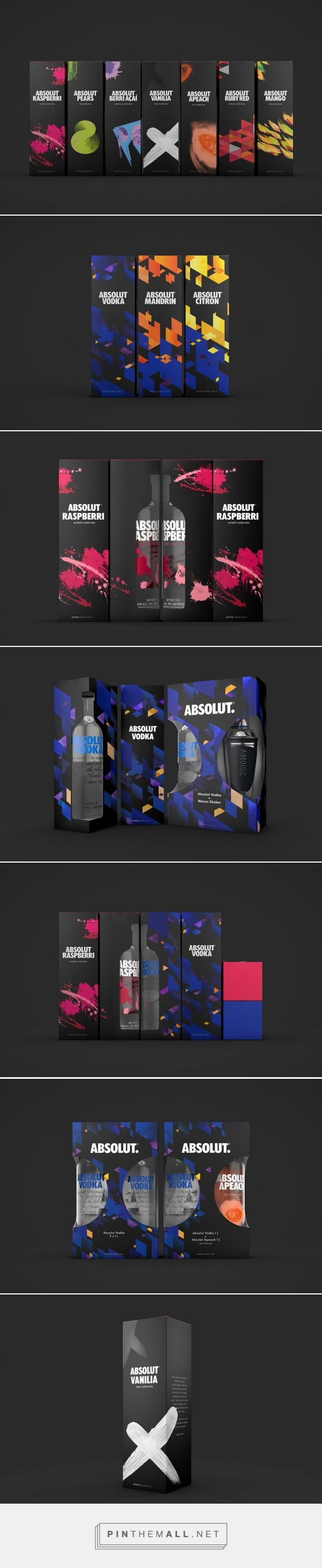 Absolut Vodka packaging design by Amore Brand Identity Studios. Source: World Packaging Design Society. Pin curated by #SFields99 #packaging #design