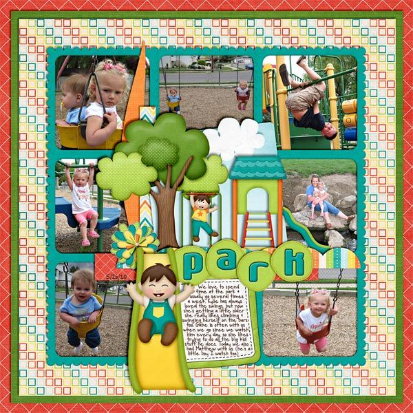 At-The-Park6 | Boats/Water/Summer Scrapbook Layouts