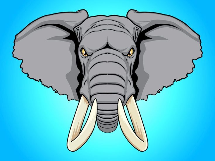 Angry Elephant Cartoon - Clip Art Library in 2020 (With ...