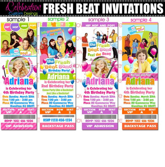 26 best Fresh Beat Birthday {Syd} images on Pinterest Beats - fresh birthday invitation from a kid