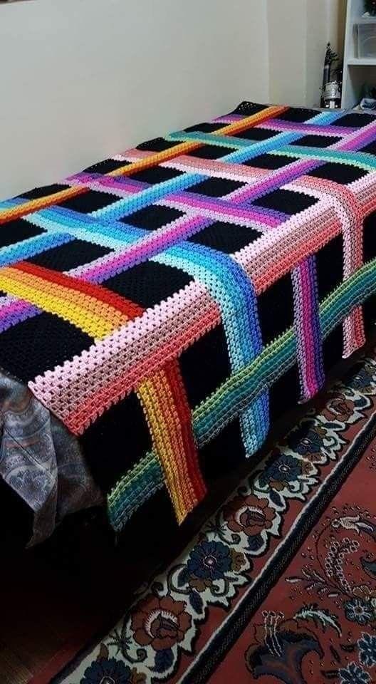 Woven Ribbon Afghan Crochet Crochet Quilt Afghan