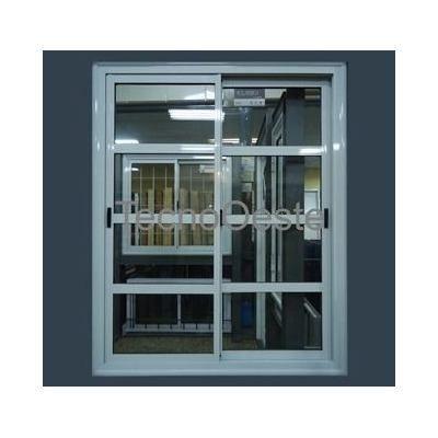 puerta ventana balcn aluminio blanco repartido horizontal en