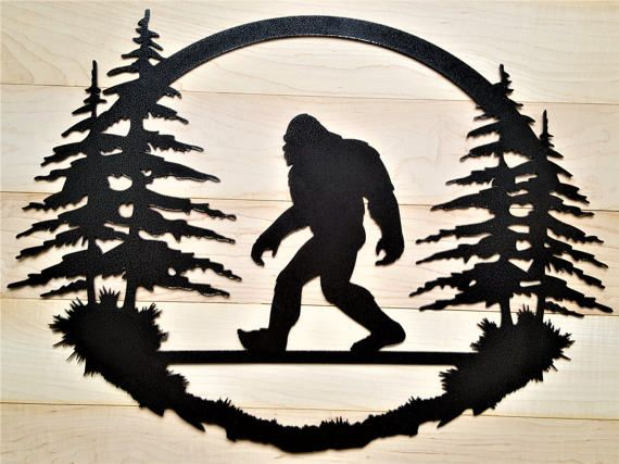 Bigfoot Big foot Sasquatch art Yeti Welcome sign metal cabin