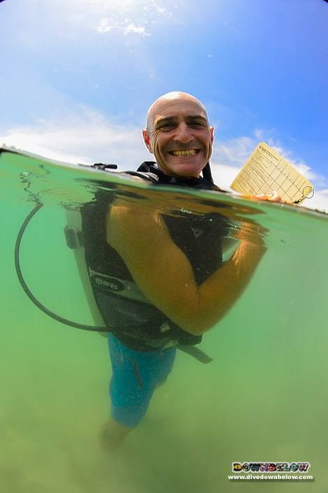 Richard enjoying his instructor trainer duties in the shallow waters of our lagoon :)