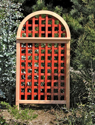 """Andover Cedar Landscape Screen, Stained Western red cedar with stainless steel screws   • Easy assembly (approx. 30 minutes) requires a Phillips screwdriver and hammer   • Two 36"""" steel support stakes are included with each panel   • Screen is 36"""" W x 2-3/8"""" D x 66-7/8"""" H overall  190"""
