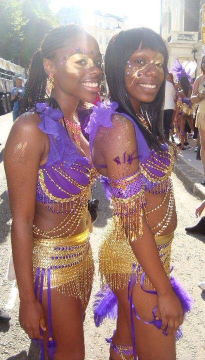 Nottinghill carnival dancers in excellent outfits.