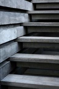 Trappe i beton.