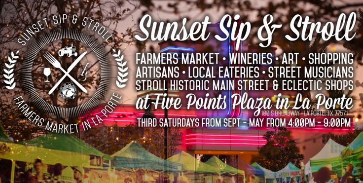 Third Saturdays from 4 - 9pm at Five Points from September to May! Join us for a sunset sip & stroll!
