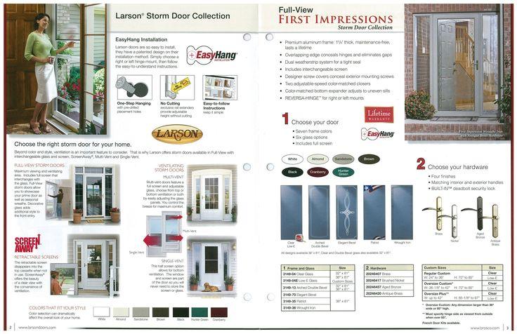 Larson Security Storm Door Hardware