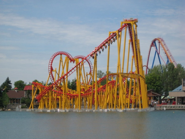 I am drooling over this coaster. Ednor L'Attaque at Six Flags La Ronde in Montreal tells the story of a sea monster.