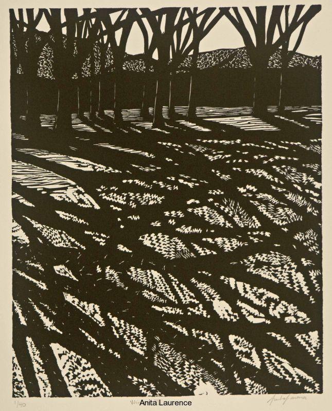 Anita Laurence - Winter III linocut 36x29 cms ed.40