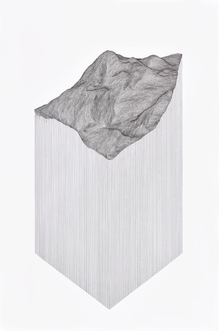 Projected Terrain, 2015 pen on 140 lb paper  Katy Ann Gilmore
