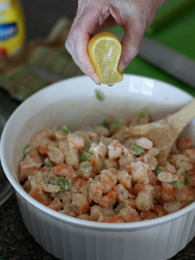 One of my favorite ways to enjoy shrimp, especially during the summer is the shrimp salad! Makes a great sandwich or addition to any salad.