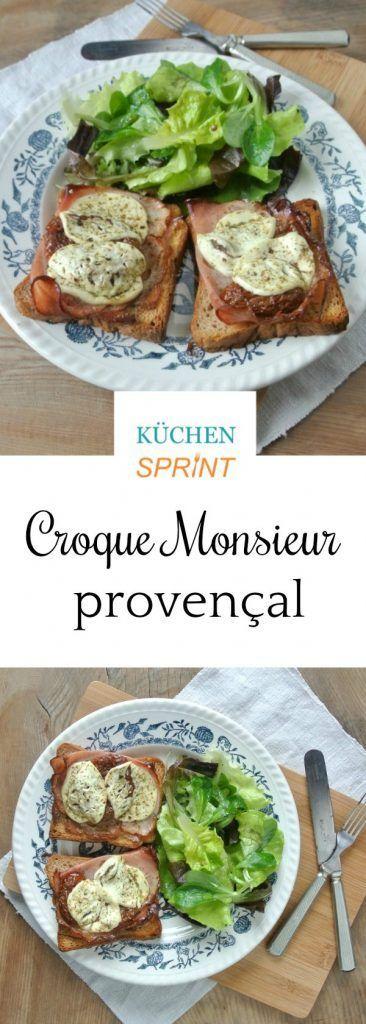 Croque Monsieur provençal ist ein super-einfacher Schinken-Käse-Toast mit einer französischen Note. Ideal als schnelles Abendessen oder als Snack.
