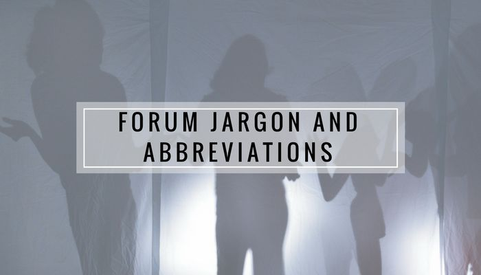 After joining the forums, I spent a sizeable amount of time googling jargon and abbreviations. Here is a handy list of common terms and abbreviations.