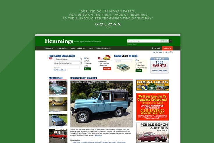 "We were so happy to visit the Hemmings home page one day and see that our 'Indigo', a rare-to-the-US, 1979 Nissan Patrol LG-60, was honored as a ""Hemmings Pick""!"