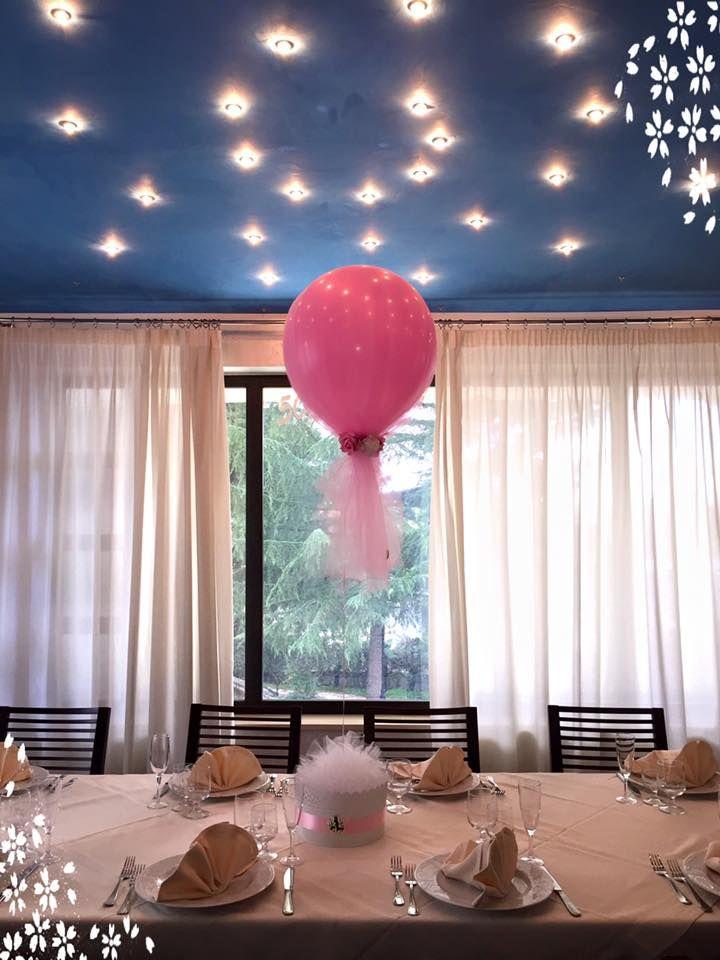 #centrotavola #palloncini #tulle #fiori #personalizzato www.vpimpronta.it
