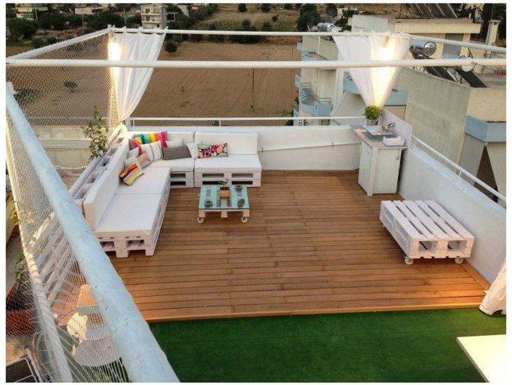 Chill out de palets muebles de terraza pinterest - Terraza palets chill out ...