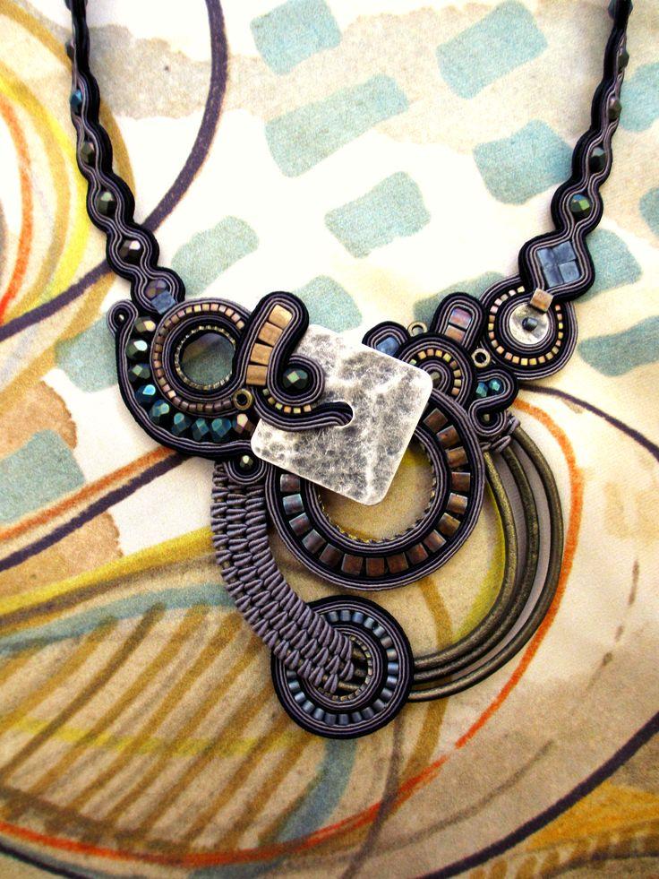 Dusk statement necklace by Dori Csengeri. #DoriCsengeri #fallcolors #fall2014 #necklace