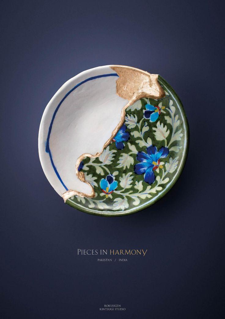 Rokujigen Print Advert By BBDO: Kintsugi Pieces in Harmony - Pakistan, India Kintsugi, Ceramic Mugs, Ceramic Pottery, Ceramic Art, Slab Pottery, Pottery Vase, Ceramic Bowls, Wheel Thrown Pottery, Ad Art