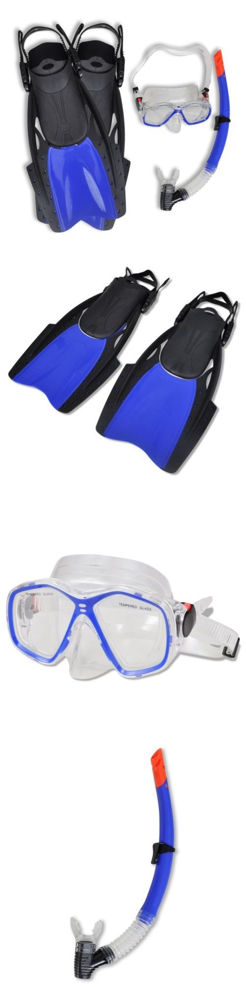 Snorkels and Sets 71162: Snorkeling Mask Fins Dry Snorkel Diving Set Gear Bag Scuba Kit Adult Adjustable BUY IT NOW ONLY: $30.79