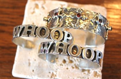 Texas Aggie game day jewelry... Richard Schmidt Whoop Cuff... I'M IN LOVEEEE :)