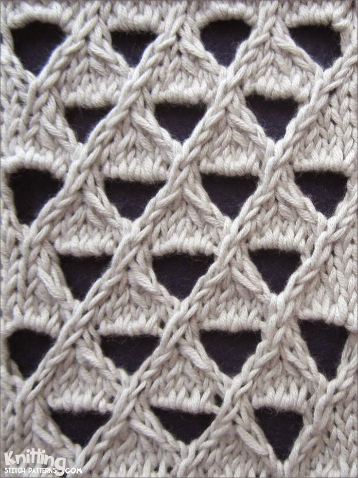 Grand Eyelet Lattice  |  knittingstitchpatterns.com  First need to translate these instructions into finnish but then I certainly try this. Would be nice as a pillowcover.