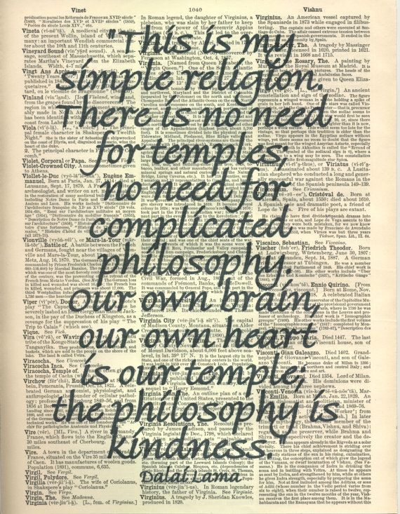 Dalai Lama This Is My Simple Religion Quote