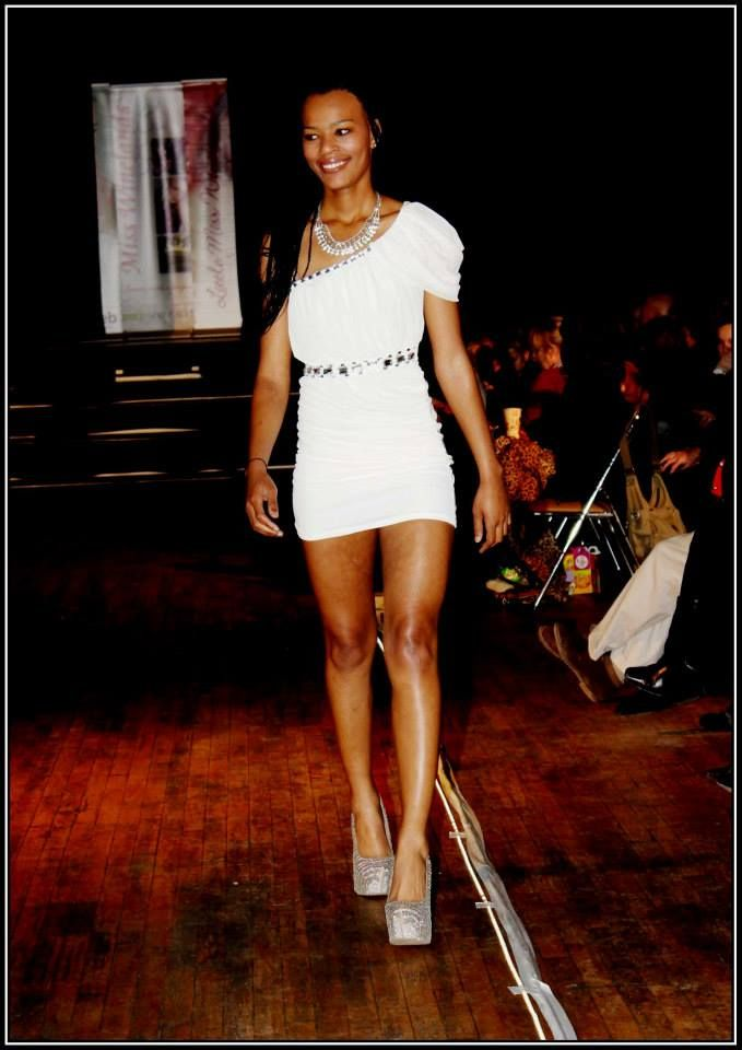 White grecian dress with rhinestones - R500