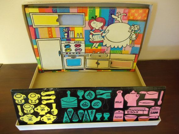 Vintage Come Into Miss Cookie S Kitchen Colorforms Toy In