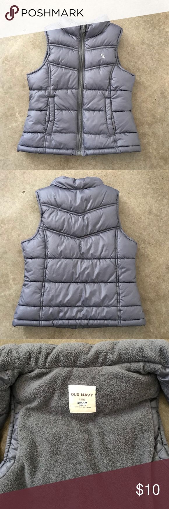 Girls Puffer Vest! Excellent condition! Perfect neutral color to layer with everything! Old Navy Jackets & Coats Vests