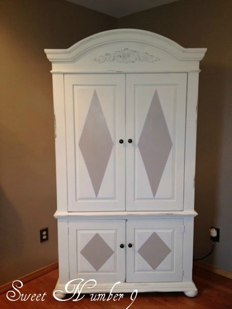 Delicieux Painted Armoire