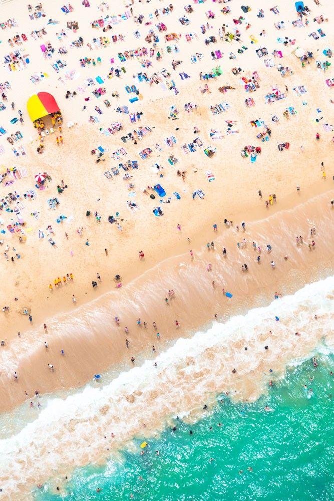 Bird's eye view of Bondi, Sydney. Spending the day at the beach? Here's the list for The Best Beachfront Bars in Sydney