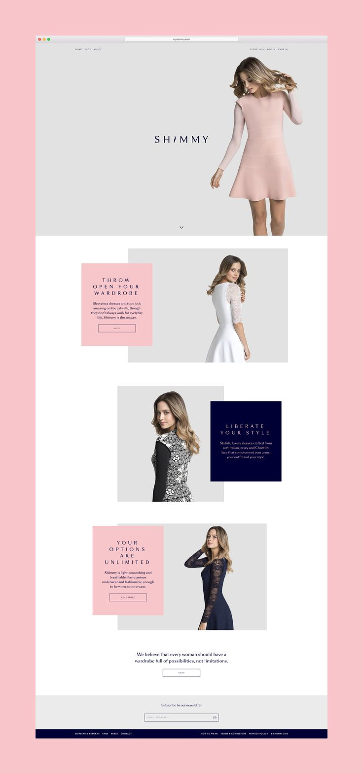 Branding for a revolutionary new garment, designed to liberate every woman's sense of style. The design studio Ragged Edge used a powerful ideology to create a brand that would connect with women of all ages. The logo, with its shimmying 'I', is elegant yet playful. Loose, expressive layouts and plenty of negative space help the brand to convey …
