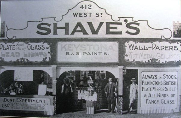 Shaves Store, sellers of Paint and Glass, West Street, Durban