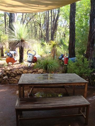 Goanna Gallery and Cafe, South West bush setting serving breakfast and lunch with a gallery and gift shop
