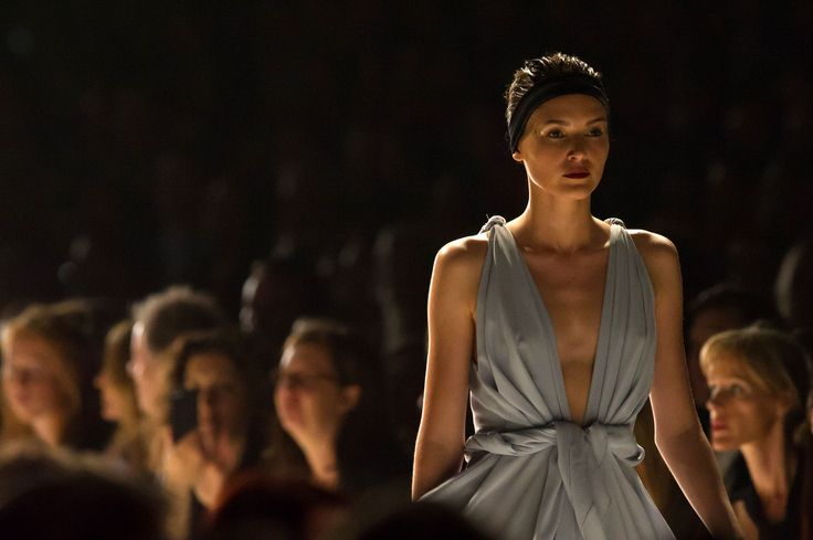Win with Ziera! Win a trip for 2 to the Virgin Australia Melbourne Fashion Festival 2015, find out how to enter here http://zierashoes.com/page/Melbourne    Pictured: Carla Zampatti's design on the runway at the 2014 Melbourne Fashion Festival. #Win #VAMFF #ZieraShoes