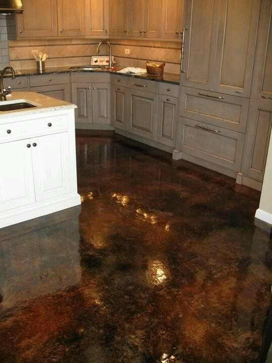 Acid Stained Concrete A First Step To Get The Linoleum
