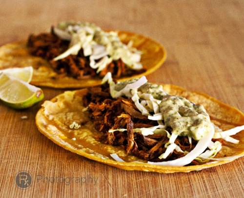 spicy barbacoa beef tacos with cabbage and jalapeno-cilantro aioli: Barbecue Beef, Recipe, Spicy Barbacoa, Beef Barbacoa Tacos Logo, Cabbages, Food, Jalapeno Cilantro Aioli, Beef Tacos