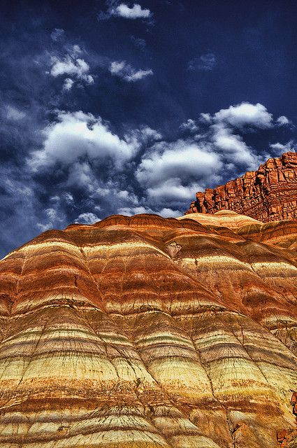Layered sandstone in Grand Staircase-Escalante National monument in southern Utah