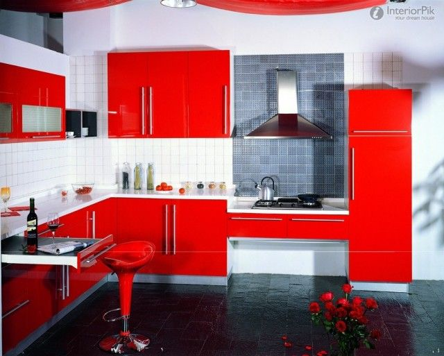 Modern Red Kitchens Elegant | Effie kitchens | Pinterest